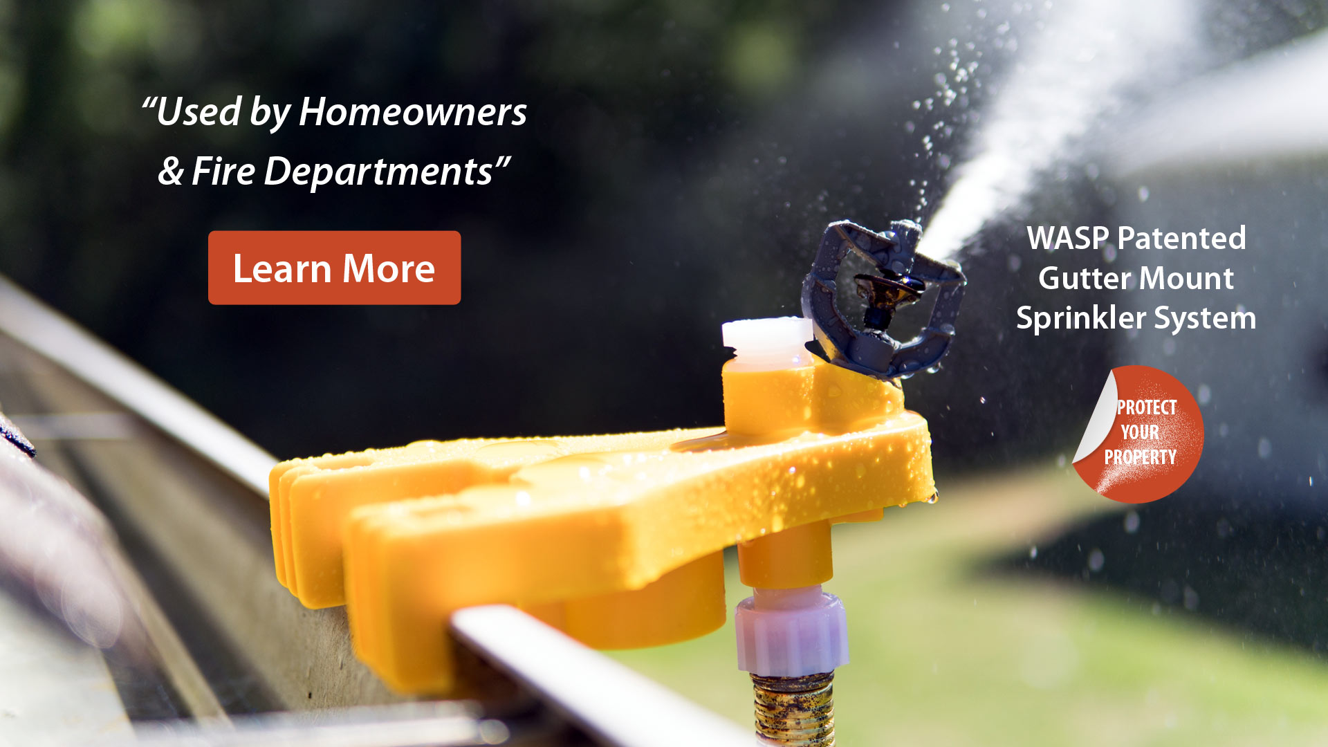 Learn about the gutter mount sprinkler system