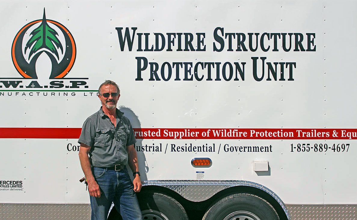 WASP offers sprinkler systems to help protect homes from wildfires.
