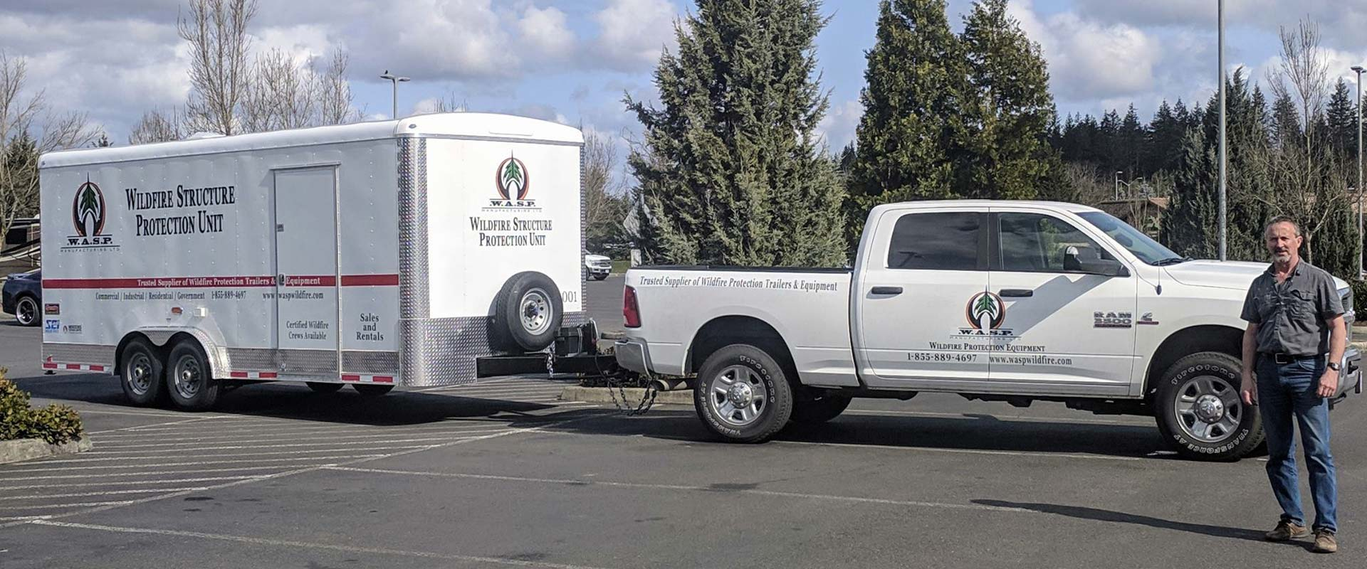 Wildfire Structure Protection Units On The Move